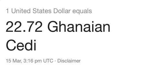 What Is The Dollar Rate In Ghana Today