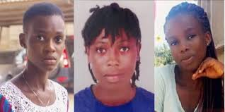Images of three of the four Takoradi kidnapped girls who have been confirmed dead