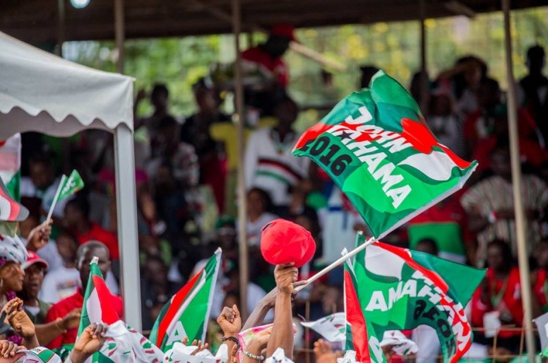 File photo: NDC supporters displaying the party paraphernalia