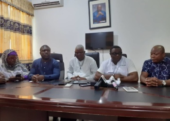 Executives of the NDC at the Press Conference