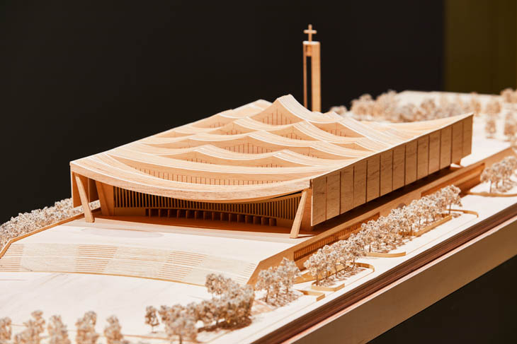 An architectural design of the National Cathedral