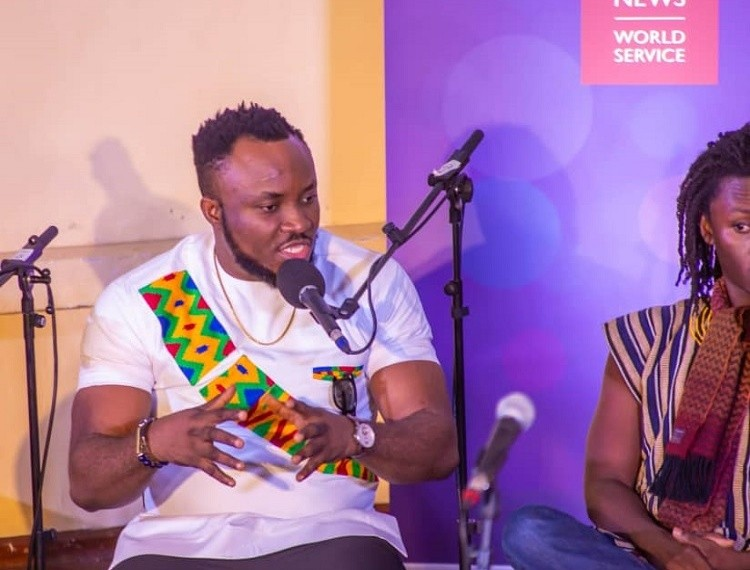 DKB contributing to the discussion during the show