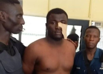 Eric Kojo Duah(Middle), the key suspect