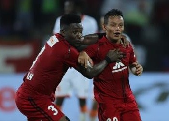 The goal is Gyan's second in three league games this season.