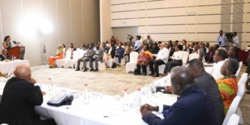 file Photo: Chairperson of EC, Ms Jean Mensa launches the 21-member Eminent Advisory Committee
