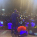 Kuami Eugene and fan on stage