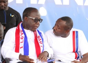 File photo: National Chairman of NPP, Mr Freddie Blay and General Secretary of NPP John Boadu