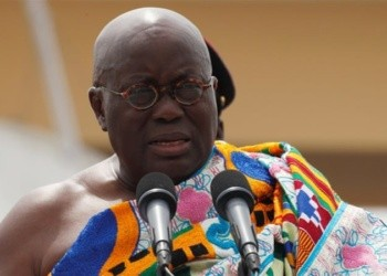 File photo: Akufo-Addo delivering a speech during his swearing- in ceremony